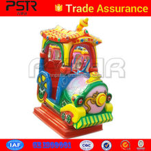 Newstyle panda kids rider game machine with music and timing