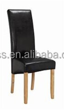 Modern black pu leather metal leg cheap dining chair