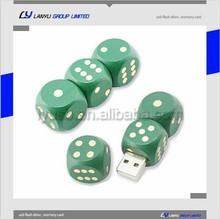 custom logo Wooden cute dice usb flash memory stick, factory price usb flaslh drive