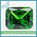 venta directa de fábrica octógono sintética circón piedra de esmeralda de los precios