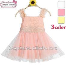 poco de venta al por mayor desfile de las niñas vestidos de niñas vestidos de algodón de la más hermosa flor vestidos de niña