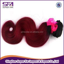 fashion and beautiful two tone color 100% human hair extension