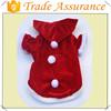 Factory sale dog christmas costumes/Christmas velvet lovely pet costumes