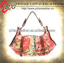 2013 latest lady's floral Oilcloth lady handbag