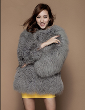 100% Wholeskin real mongolia lamb fur coat women plus size winter coats