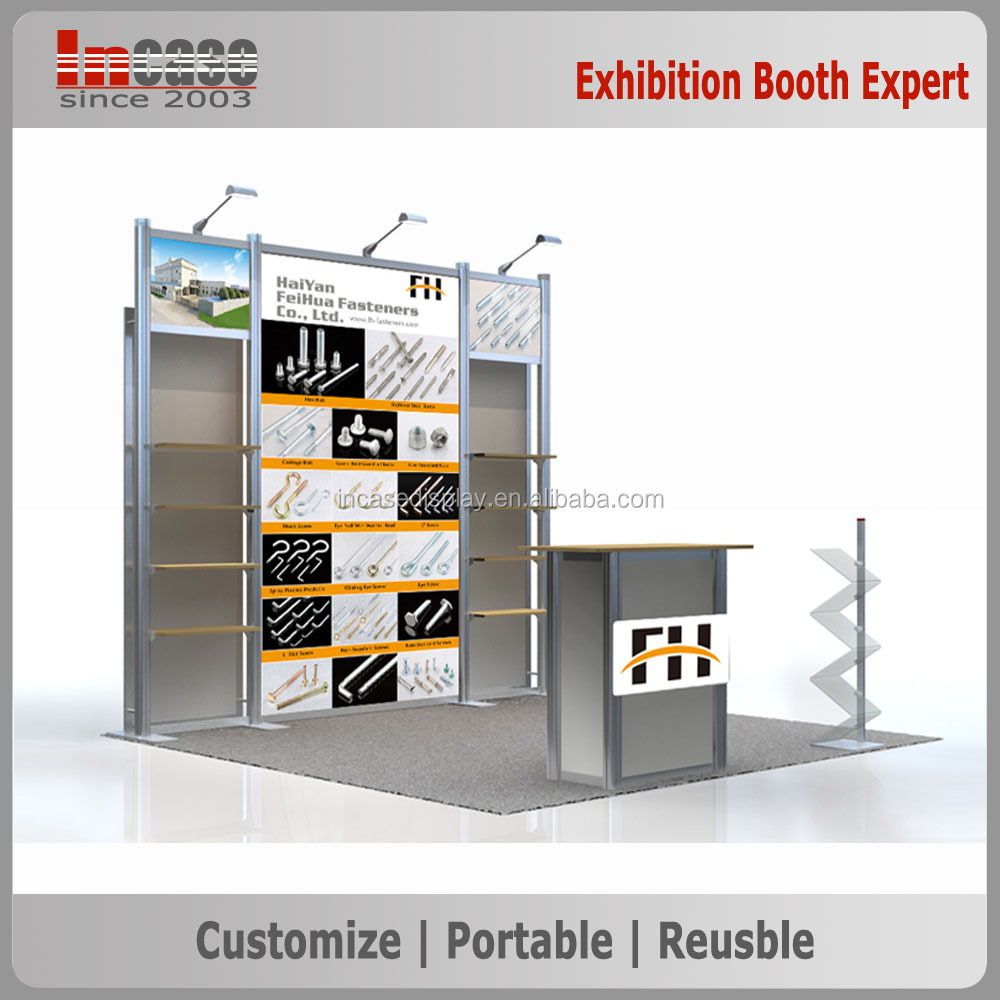Exhibition Booth Materials : Standard exhibition booth material for