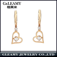 Fashion accessory in Guangzhou hollow heart earrings designs with caving for girls