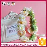 Floral Rose Flower Headband Crown Hair Garland Wedding Headpiece