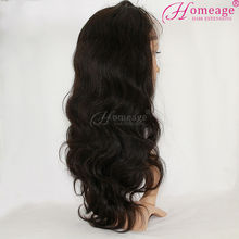homeage alibaba in russian brazilian human hair body wave glueless full lace wigs