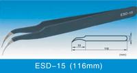 ESD Anti-static Stainless Steel Tweezers ESD-15