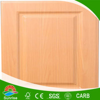 Light colored wood grain white melamine kitchen cabinet door made in China