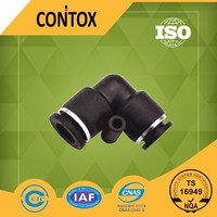 A105 China supplier 90 degree pneumatic black electrical plastic 2 way automotive connector