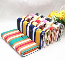 Hot Women's Wallet Bag Stripes Clutch Bag Purse Coin Hand Bag