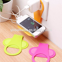Color Randomly Foldable Mobile Cell Phone MP3 Camera Cable Wrap Charge Charging Wall Holder Shelf Folding Portable Sturdy Holder