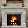 White Marble Carved Fireplace Wood Burning Fireplace Mantel SF04