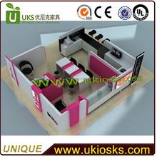 Mixture use of the coffee kiosk&manicure kiosk&pedicure kiosk
