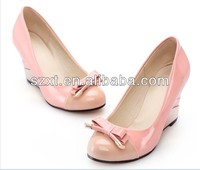 bowknot high heel shoes cheap nice shoes girls branded shoes copy