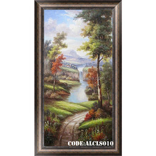Charming waterfall landscape oil painting made in China