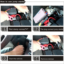 Vehicle tools12000mah car jump starter , multifunction portable 12v/19v/24v battery charger