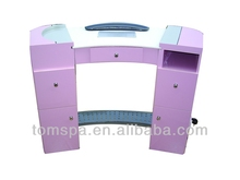 2013 fashion style newest wood and glass beauty salon nail tables for spa/ nail salon equipment manicure/nail table TS-711B
