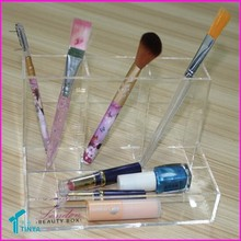 Wholesale China Factory Complete Makeup Kit, Acrylic Clear Stand Up Brush Holder