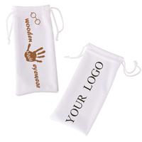 [wholesale] ZL116b glasses accessries white Microfiber Cloth Bag for eyewear