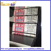 Concrete Formwork Shuttering Film faced Plywood,Construction Filmed faced/coated Plywood,4x8 Film faced Plywood for building