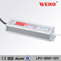 LPV-50w single output waterproof 12v power supply ac/dc 2.1a led drivers