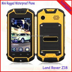 Land Rover Z18 Mini Rugged Waterproof Mobile Phone Shockproof Outdoor Cell Phone Very Small Mobile Phone