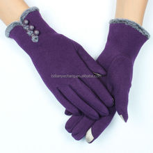 Customized touch screen wool knitted wool hand nail gloves for iphad iphone