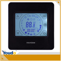 Touch screen weekly programming LCD digital room heating thermostat with sensor for incubator