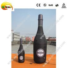 Inflatable bottle model for advertising