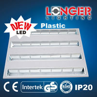 Office light fluorescent louver fixture led recessed grill lamp 3X36W 120cm led fluorescent lamp work lamp
