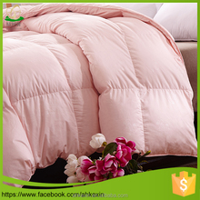 For hotel pink 100% cotton duck down duvet inserts