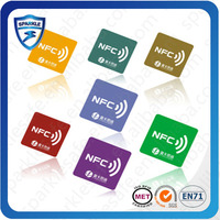 customized cheap 13.56mhz nfc rfid tag for mobile phone