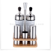 Stainless Steel oil vinegar set/ salt and pepper set with toothpick holder