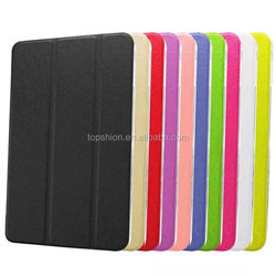2015 New Arrival Standing Leather Case Cover For iPad mini 4 leather Case