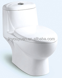 Y082 Siphonic One-piece Closet; Prefabricated Toilets Prices Rough Pottery Toilet One Pieces