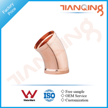 T201 Factory price large size pipe fitting copper 45 degree elbow