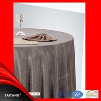 2015 Hot Sale polyester satin table cover anti-slip table cloth