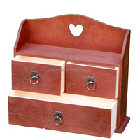 FSC&CARB Small Wooden Drawer Box
