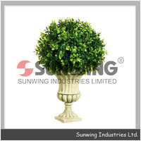 welcome artificial grass ball for festival decoration