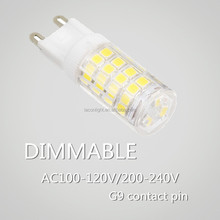 hot new prodcuts for 2015 newly Epistar2835 G9 led dimmable !!! g9 led 7w