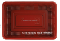 plastic food packaging container meat tray