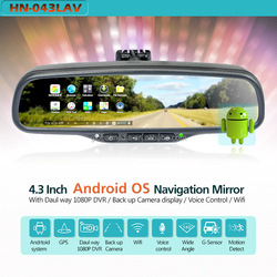 5 inch lcd monitor Touch screen for B&R GPS Navigation rear car mirror with Bluetooth,DVR in mirror