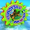 Inflatable water hamster wheel