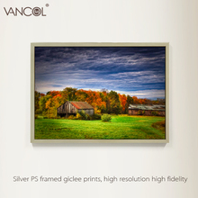 Decorative scenery oil canvas painting tree and sunset landscaped paintings