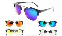 reflective lens classic retro eyewear fashion sun glasses 2015 wholesale and unisex sunglasses