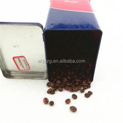 500g promotional bean tin printing boxes for storage