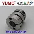 YUMO (LD2 D44 L50 20X20) El acoplamiento del codificador doble disco  Motor eléctrico Conector  acoplamiento codificador rotat